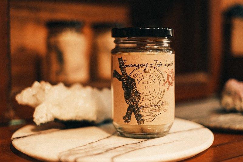 手工BEE-WAX蠟燭(迷迭香+帕洛聖托)香薰蠟燭