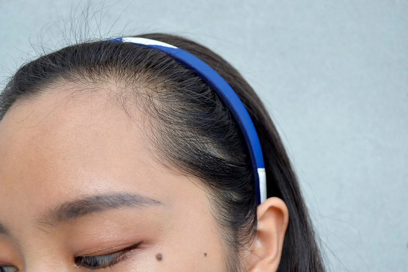 Volleyball x headband / fine version / mikasa yellow blue white section number 007