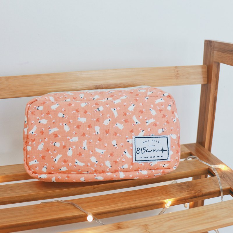 [School Season] Pink Bunny Pencil Case/Cosmetic Bag | 815a.m