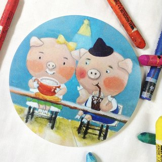 CHUMIOx Xiaozheng Illustrator Series Coaster