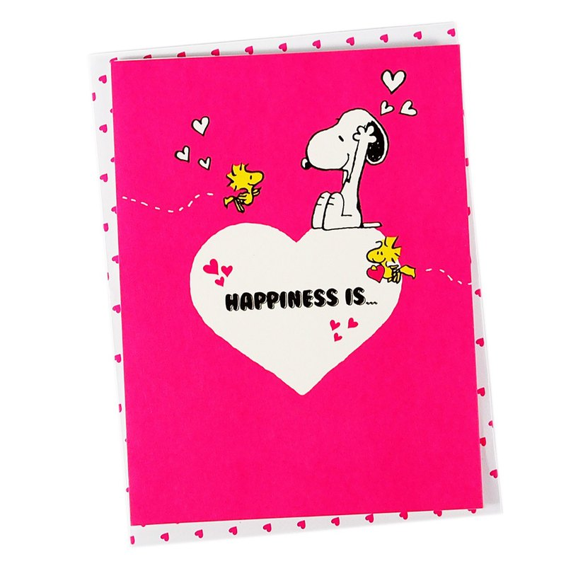Snoopy happiness always brings good memories [Hallmark-Peanuts-stereo card]