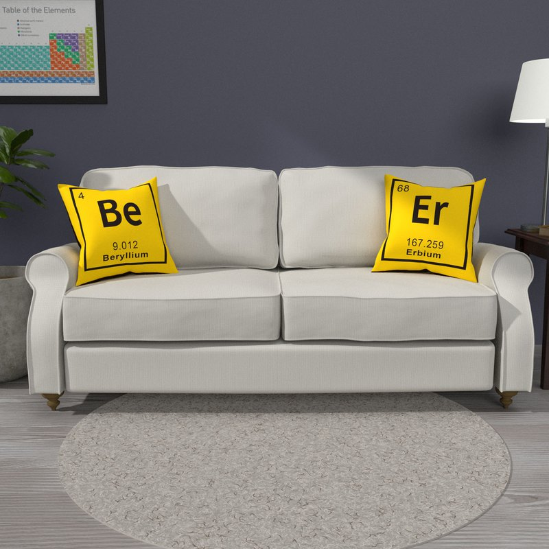 Be Er chemical element double-sided pillow (two in a group)