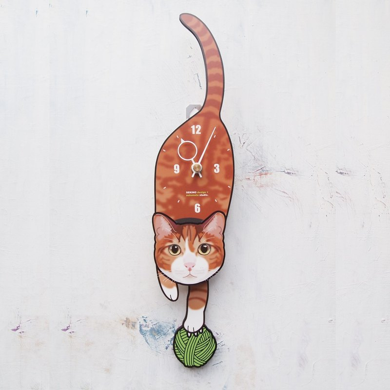C-42 Red tabby - Pet's pendulum clock