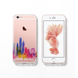 iPhone 6 case, Clear iPhone 6s case, Decouart original design C121-New York 2