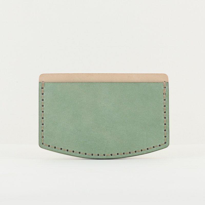 Pocket Ticket Card Holder / Leisure Card Holder -- Mint Green