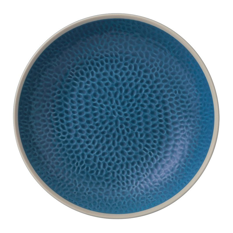 Royal Dalton Maze Grill Gordan Ramsay Chef's Joint 24cm Deep Plate (Blue)