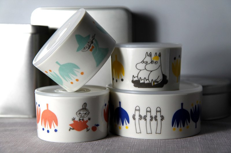 MOOMIN 噜噜米-Tulip Series 4 into the fresh bowl (1 big 3 small)