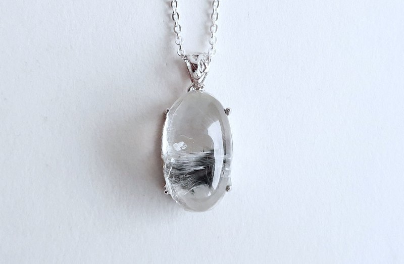 Gemstones Small Silver Fast Natural Ore Silver Titanium Necklace