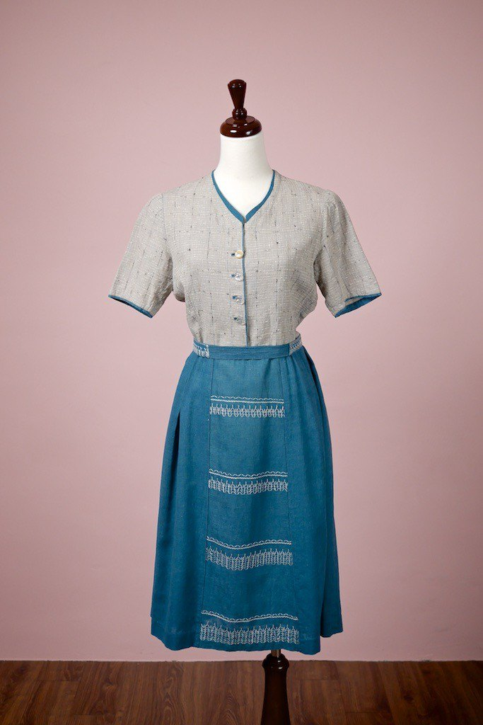 Ancient handmade linen dress