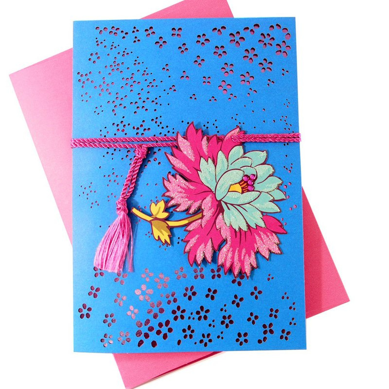 Hundreds of flowers blossoming and colorful (Hallmark-Signature classic handmade series birthday wishes)