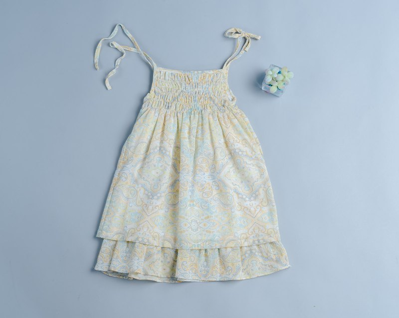 Cake Slip Dress - Soda Green Handmade Non-toxic Children's Dress Sling