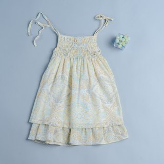 Cake Dress - Soda Green Handmade Nontoxic Kids Dress Strap