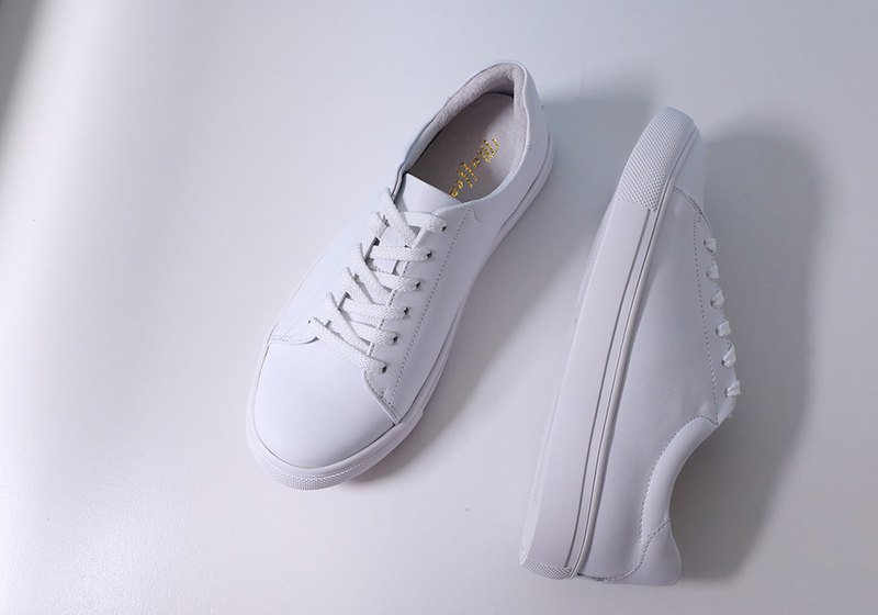Featherweight dirt-resistant full leather white shoes increase size (34-44) white custom goods