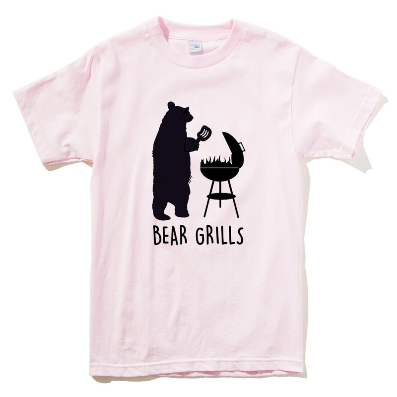 BEAR GRILLS LIGHT PINK T SHIRT