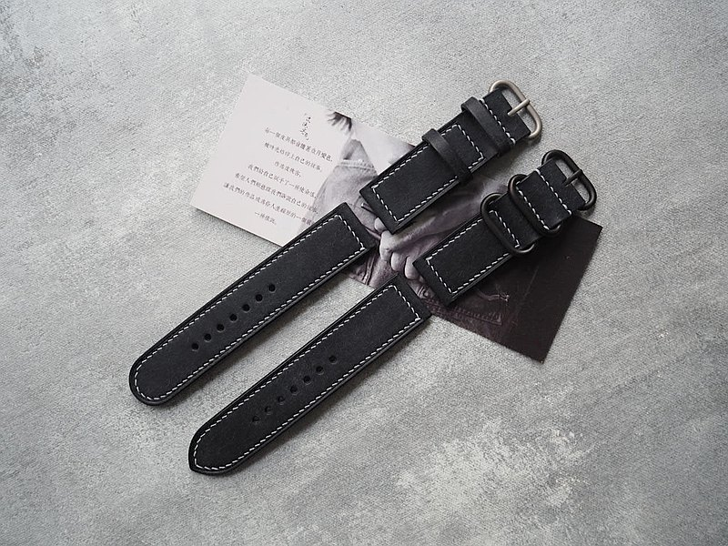 Customized Handmade Dark Blue Leather Watch Strap.Watch Band.Gift
