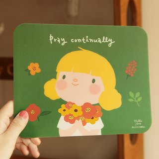 Hello Jenny mouse pad-02. Prayer