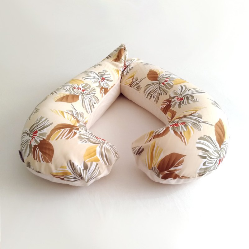 Microparticle Type Pregnant Woman Pillow - Akiha Flower Garden - Cotton Blue Green | V*k Cheung Custom Subscript Area (HK)