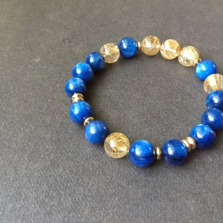 [Three days] high quality kyanite titanium crystal brass bracelet