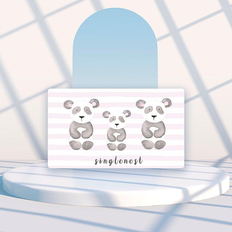 快速出貨 |【銀離子抗菌口罩盒】三隻熊貓