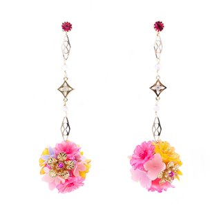 Pamycarie ZINNIA Mermaid Gold-plated 925 Silver Bouquet Earrings