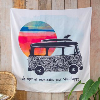 Wall hanging tarpaulin / alcove - Do More Soul Happy | TPST017