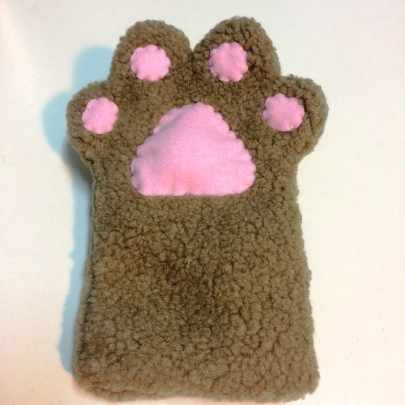 RABBIT LULU cat palm mobile phone bag hand-made cat slave special cat - milk tea color