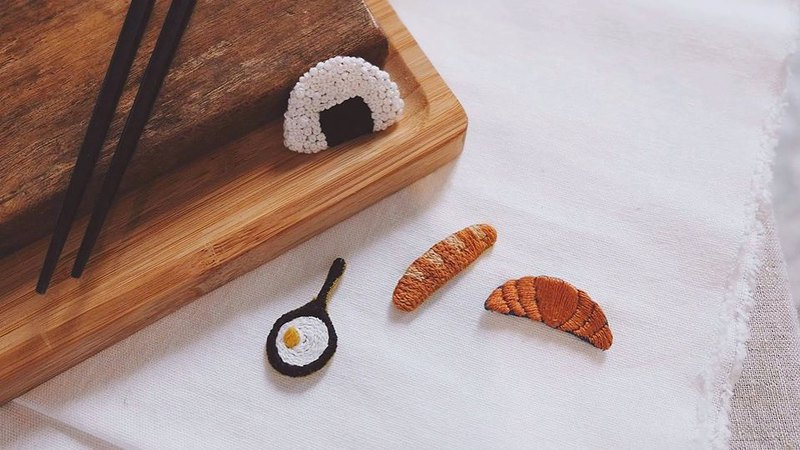 【Workshops】Slow fire breakfast kitchen embroidery experience class-bread, chant, rice balls, omelette all available