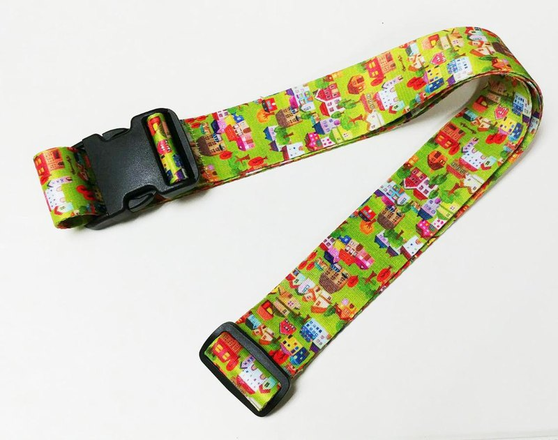 LB15: fun hut pattern (colorful pattern design) double-sided printing luggage strap