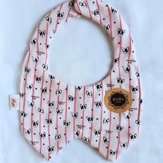 Straight Grain Bucket - Foundation Red Stripe / Baby Baby Eight-layer Yarn Bib. Saliva towel. 100% cotton