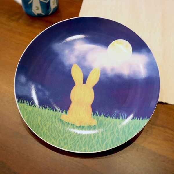 Moonlight Bunny 8 Porcelain Plate