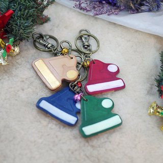 [Christmas limited offer] Christmas hat key ring