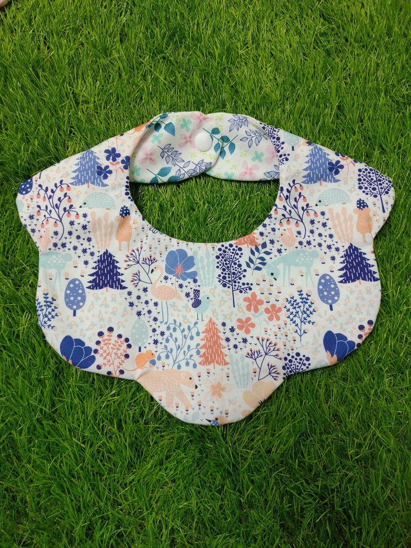 Flowerbed double-sided bib - colorful forest