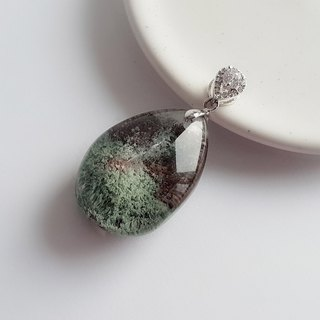 Gemstone ‧ only in my mountain natural ore green ghost ‧ necklace pendant