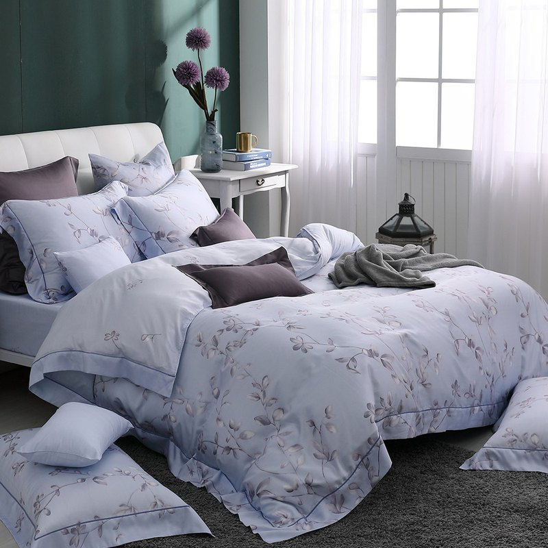 Increase the size - Dream flower bloom - Tencel dual-use bed pack four-piece group [100% Lysell Tencel]