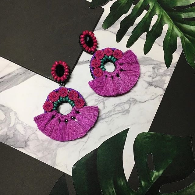 earrings: donut flower