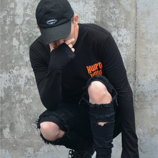 HWPD│ thumb Long sleeve black Tee (refer to Kanye West / Yeezy / Justin Bieber)