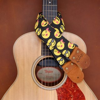 Black Smile Guitar Strap