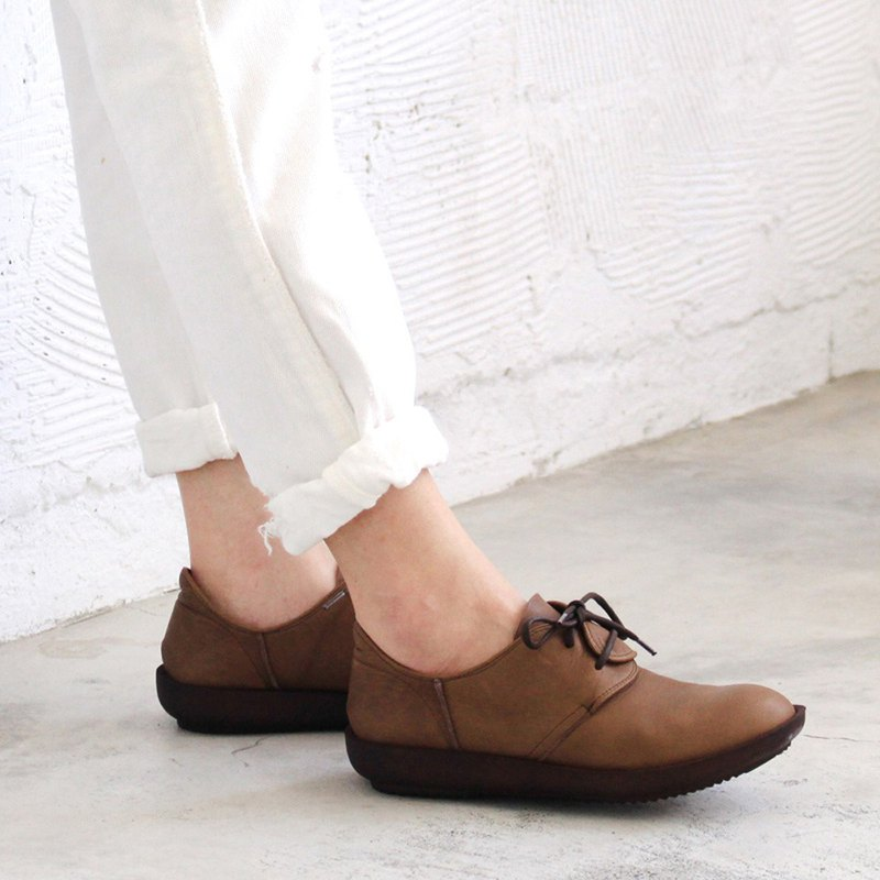 Pre-order [Dknot made in Japan] soft leather lightweight straps casual shoes / dark brown / F2-17016L
