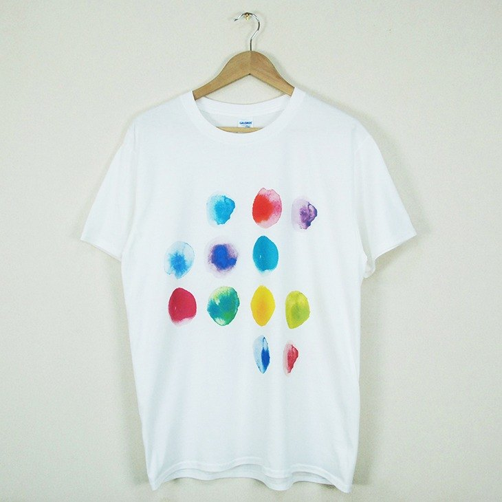 "New Designer-T-Shirt: 【Printed in Heart】 Short Sleeve T-shirt ""Neutral / Slim"" (White) -850 Collections"
