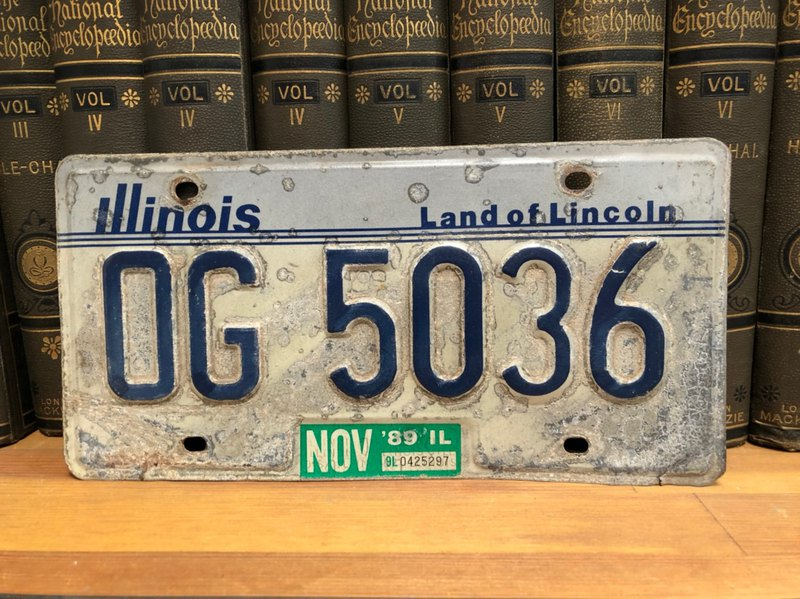 American antique license plate collection
