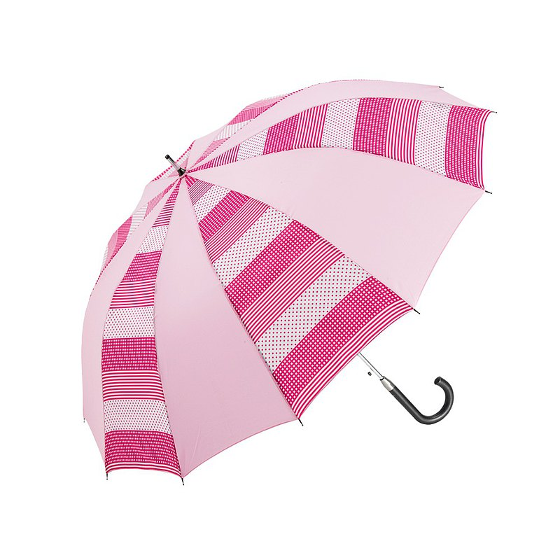 Prolla Striped Dots Two-color Automatic Straight Umbrella Cute Playful Style Large Umbrella Face Automatic Opening