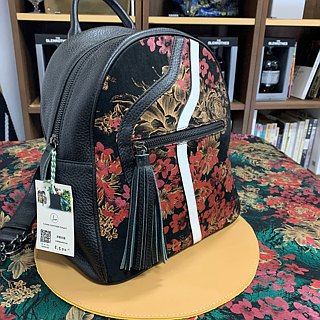 Beam leather art leather backpack / special printing / unique