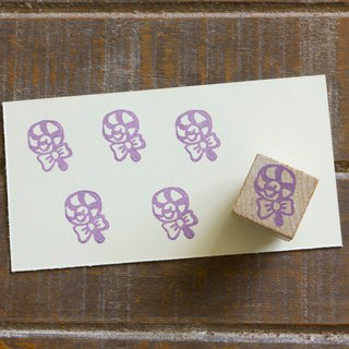 Hand engraved rubber stamp lollipop stamp stationery