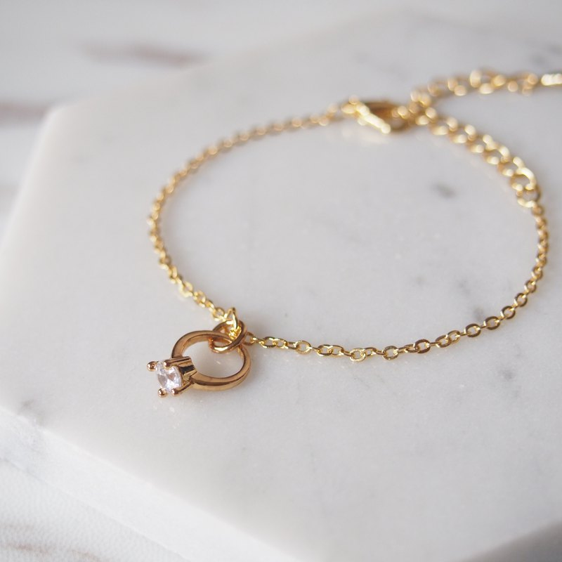 Valentine's Day Gifts · I Wish · Mini Rings · Gold Plated Chain Bracelet Bracelets