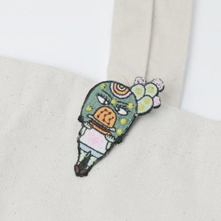 Belongs To J. Embroidery pins - Burger Lover