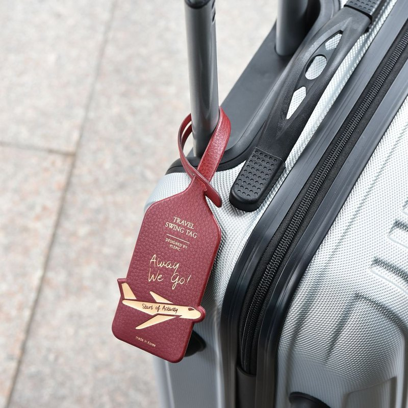 Departure Leather Travel Tag - Bogen Red, PPC94980