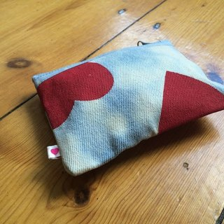 Simple Charm Denim Coin Pouch