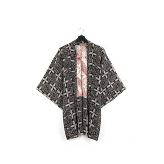 Back to Green-Japan brought back feather weaving illusion road / vintage kimono