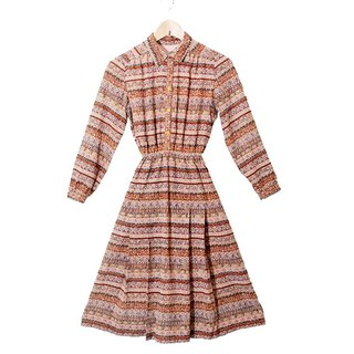 {::: Giraffe giraffe people :::} _ retro totem long-sleeved vintage dress
