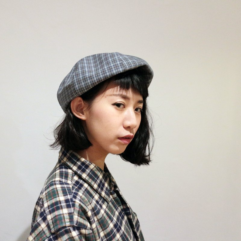 JOJA │ limited / yuppie Check Beilei / SM adjustable / berets / painters hat
